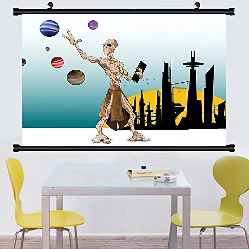 Gzhihine Wall Scroll Outer Space Decor Odd Alien Celestial B