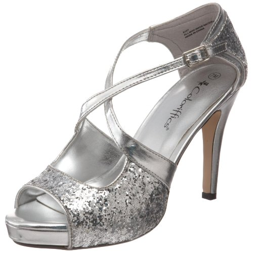 Coloriffics Metallic Sandals - Coloriffics Women's Jessica Platform Sandal,Silver,10 M US