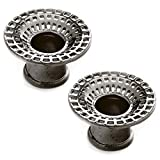 Steel Navel Body Jewelry Pair of Gunmetal Plated Double Flared Black Hole Eyelets: 7/16''