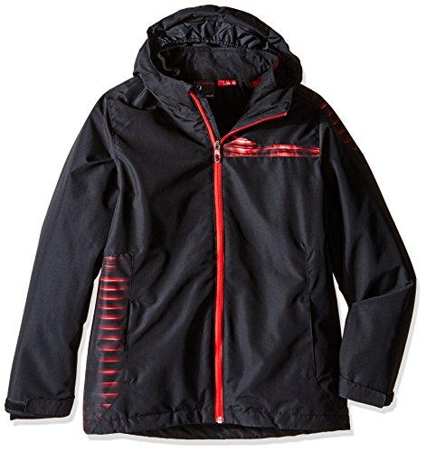 (Spyder Boys Reckon 321 Jacket, Large, Black/Space/Formula Print)