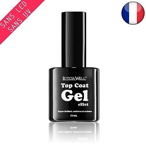 Esmalte de uñas Top Coat Gel efecto 3d sin lámpara UV o LED, 123 Cosmé