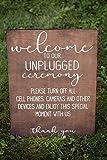 Unplugged Ceremony Sign Wedding Ceremony Signage Rustic Wedding Ceremony Unplugged Wedding Sign Wedding Ceremony Decor Wood Sign 12x18