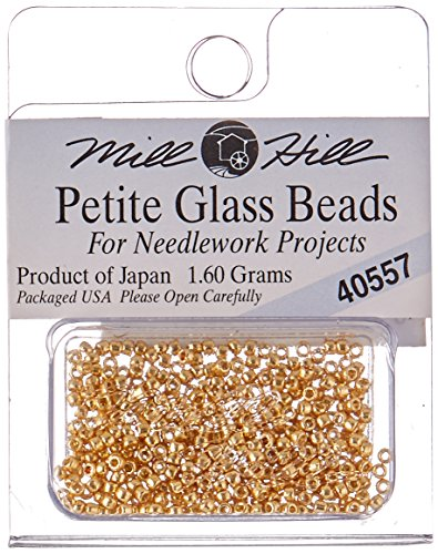 Mill Hill Petite Glass (Mill Hill Mill Hill Petite Glass Seed Beads, 1.60gm, Gold)