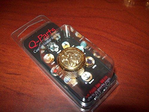 - Q-Parts Dome Knob - SKULL N' BONES ON GOLD, KGD-0126