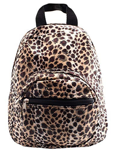 Rave Envy - Mini Backpack - Small Profile, But Plenty of Space Back Packs - Great Daypack (Leopard)
