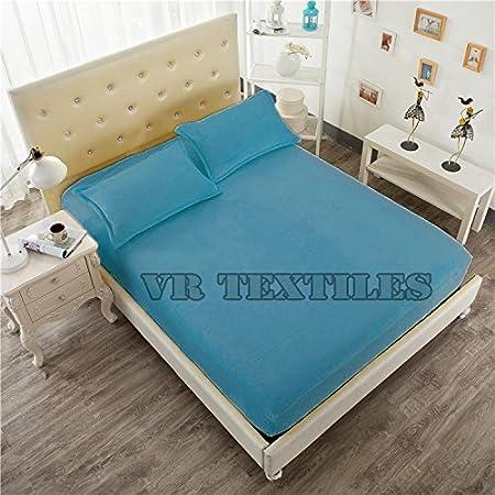 VRT Juego de sábanas de terciopelo 100% 3 piezas de 40,64 cm