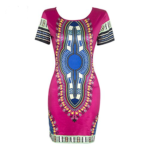 Short Plus Size Knight Pink Sleeve Dress Hot Women Dashiki Traditional African Print Horse Bodycon wAxqUwz0