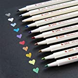 GV Metallic Markers Pens, Metal Art Permanent Marker Set of 10 Assorted Color for Glass Paint, Painting Rocks, Black Paper, Photo, Album, Gift Card Making, Christmas DIY Craft Kids
