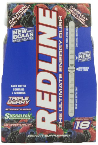 VPX Redline RTD Triple Berry, 8 Ounce Bottles (Pack of 24)