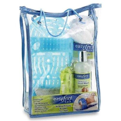 UPC 754502023172, Easy Feet Spa, Peppermint Foot Wash, Lotion, Socks, Pedicure Kit by Idea Village