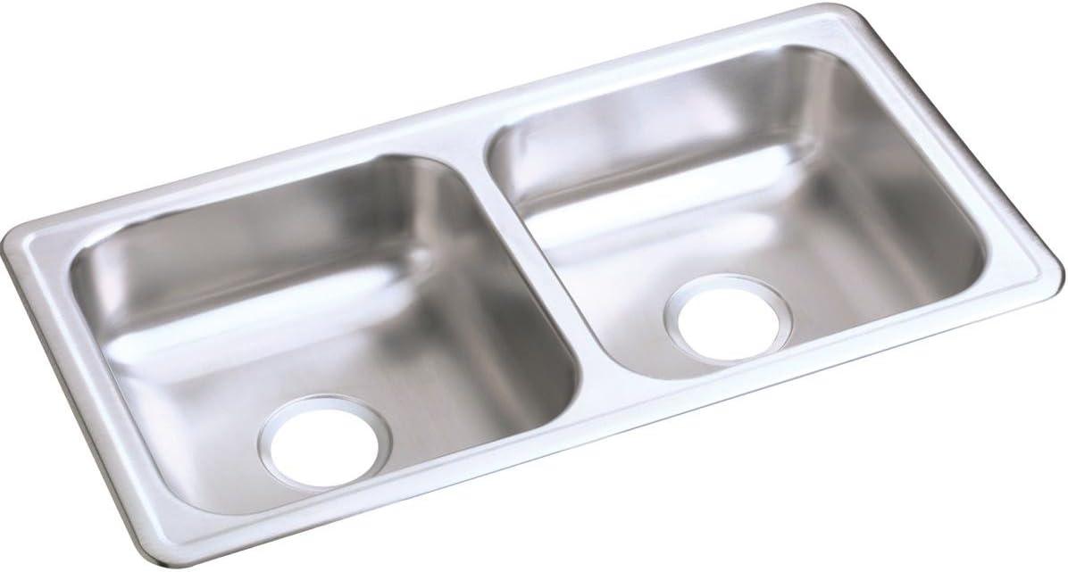 Elkay D23317 Dayton Equal Double Bowl Drop-in Stainless Steel Sink