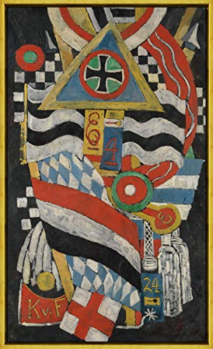 Berkin Arts Framed Marsden Hartley Giclee Canvas Print Paintings Poster Reproduction(Portrait of A German Officer) #XLK