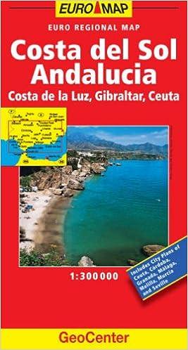 Costa De La Luz Spain Map.Spain Costa Del Sol Geocenter Euro Map Geocenter Maps Amazon Co