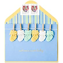 Papyrus New Baby Handmade Knit Booties & Clothespins with Forever Heart Stamps Bundle