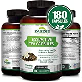 Essiac Tea Capsules, 500 mg | 180 Veggie Capsules | 4X Concentrated Extract is The Strongest Essiac Supplement Available | Vegetarian/Vegan | Supports a Healthy Immune System