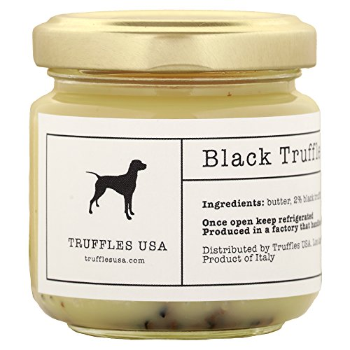 TRUFFLES USA Black Truffle Butter 2.82 oz Jar - Imported from Italy - Unique Gourmet Recipe Made with Natural Italian Ingredients - A Rich Delicacy Known as the Diamond of the Kitchen