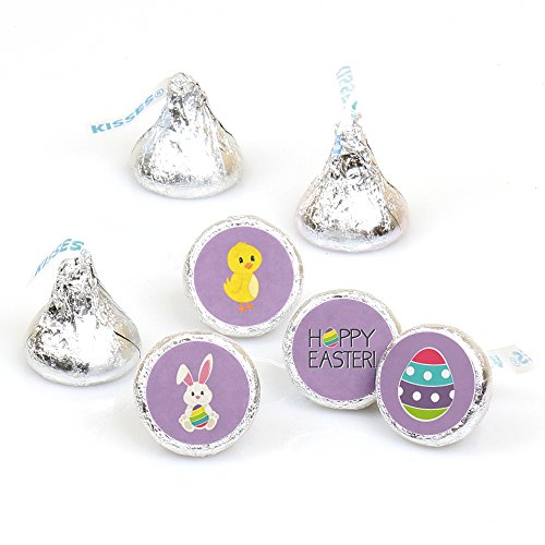 Hippity Hoppity - Easter Bunny Party Round Candy Sticker Fav