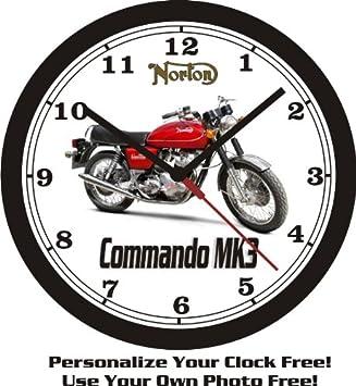 NORTON 850 COMMANDO MK3 WALL CLOCK-FREE USA SHIP