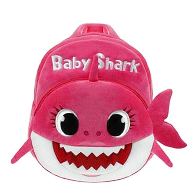 Amazon.com: Mochila de tiburón bebé de felpa lindo de ...