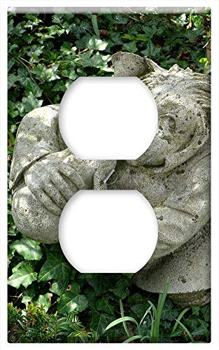 Switch Plate Outlet Cover - Garden Figurines Decoration Rock Carving Gnome