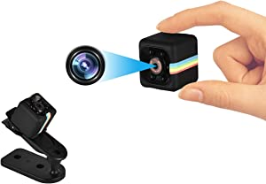 Hidden Cameras 1080P HD, Mini Camera, Nanny Cam with Night Vision and Motion Detection, Portable Home Security Cameras for Home Office Car