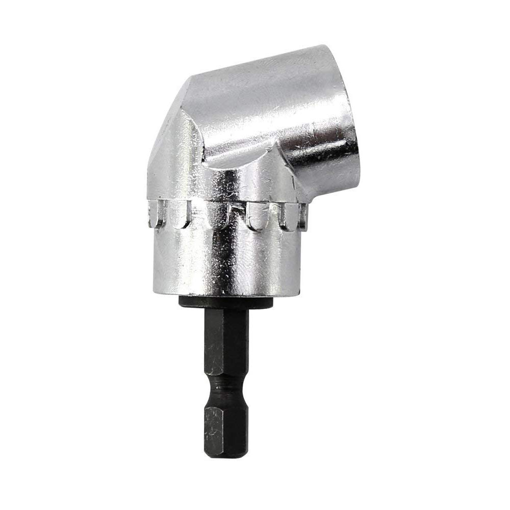 MINHER 105° Right Angle Drill 1/4 inch Hex Magnetic Bit Attachment Adaptor Quick-change and magnetic bit holder angle screwdriver Extension Power Screwdriver Drill