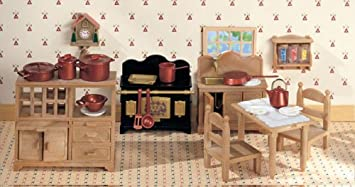 Country Kitchen Set Sylvanian Families Amazon Co Uk Toys