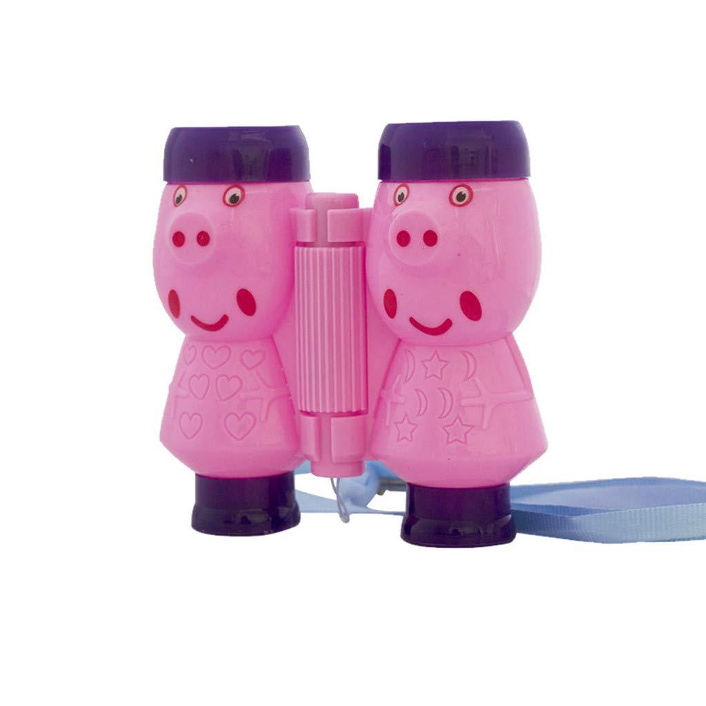 Tuu Kids Binoculars Telescope Educational Device Toy Model Bright Shining for Kids Best Gifts (Pink)