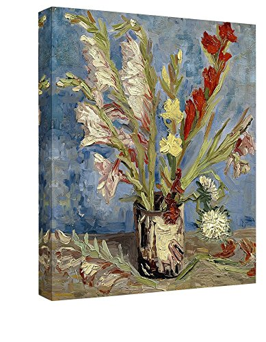 Eliteart-Vase With Gladioli and China Asters Van Gogh