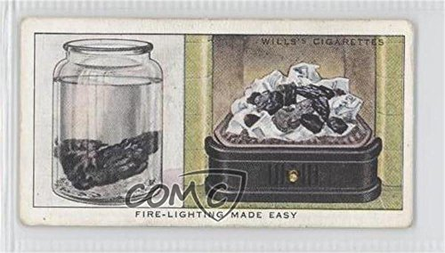Fire-Lighting Made Easy COMC REVIEWED Good to VG-EX (Trading Card) 1936 Wills Household Hints - Tobacco [Base] #13