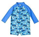belamo Toddler Boys one Piece Rash Guard Long Sleev Sun Protective Clothing 3t