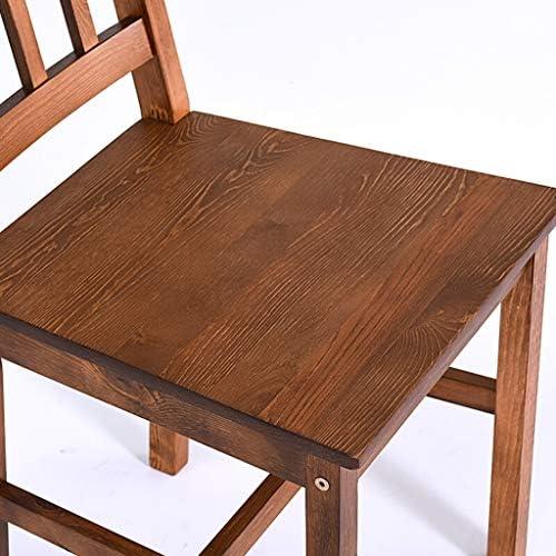TONG YUE SHOP Chaise de Salle à Manger en Bois Massif Chaise Nordique Tabouret Chaise d'ordinateur Chaise de conférence Restaurant d'étude Chaise à Dossier Haut Brown