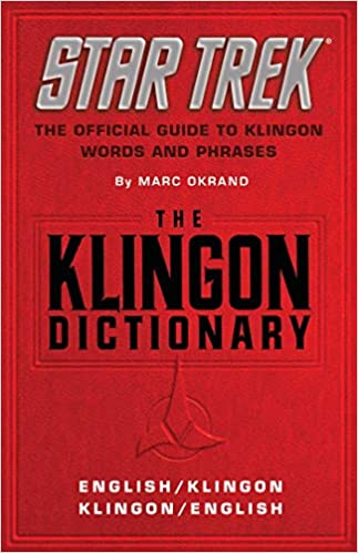 The Klingon Dictionary The Official Guide To