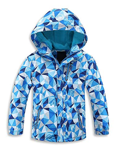 Jingle Bongala Kids' Boys' Girls' Outdoor Waterproof Fleece Jacket with Hood Coat Climbing Hiking Windbreaker