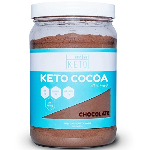 Kiss My Keto Keto Cocoa - Sugar Free Hot Chocolate MCT Oil Powder for Low Carb Ketogenic Diet, Derived Solely From Coconuts, 30 Servings, Easy To Mix Absorb Digest, Get Into Ketosis