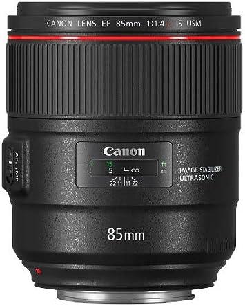 Longitud Focal 85 cm, f//1.4, estabilizador de Imagen de 4 Pasos, Enfoque autom/ático Negro Teleobjetivo para c/ámara Canon EF 85mm F//1.4L IS USM