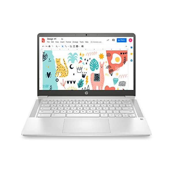 HP Chromebook 14a-na0003TU 14-inch (35.56 cms) Thin & Light Touchscreen Laptop (Intel N4020/4GB/64GB SSD + 256GB… 2021 June POWER TO WORK AND PLAY ALL DAY: All the power you need to stay productive and entertained on a seamless Chrome experience with Battery life of upto 12 hours DAILY DOSE OF ENTERTAINMENT: Immerse yourself in dual speakers and Audio by B&O PLAY, and easily share your screen GOOGLE ASSISTANT: Voice-Enabled Google Assistant built-in, work faster and smarter without lifting a finger or switching screens. Ask questions, set reminders, play videos, control your home, and more. Make Google do it.