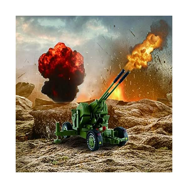 LXWM 1/35 Model Military Toys Anti-Aircraft Weapon System Aircraft Anti-Aircraft Gun Diecast Metal Toy Model for… 2