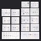 Goodqueen 16pcs IC BGA Chip Reballing Stencil Kit Set Qualitied Solder Template For iPhone