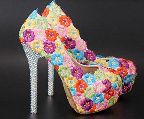 Si& TOU Shui Drill/Ultra hohe wasserdicht/Stickerei Farbe Blumen/Hochzeit Kleider/Schuhe 10cm