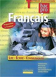 Français Terminale professionnelle Bac Pro