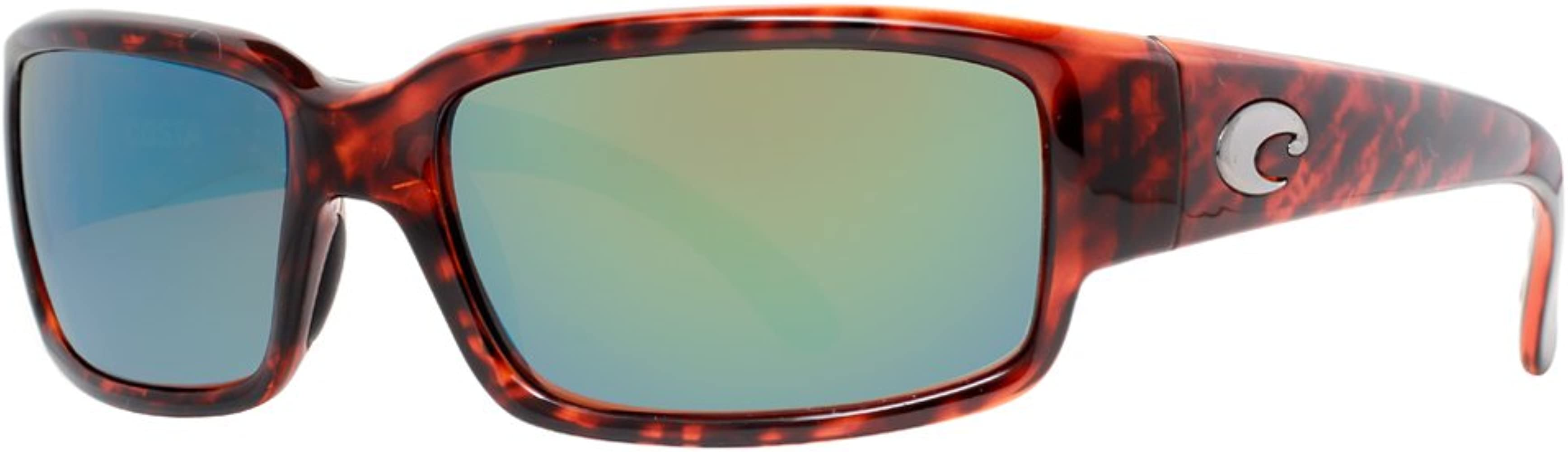 Green Mirror Lens Costa Del Mar 580g CABALLITO Tortoise Sunglasses