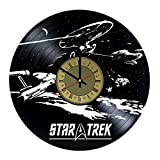 Star Trek Starfleet Starships Vinyl Wall Clock Star Trek Unique Gifts Living Room Home Decor