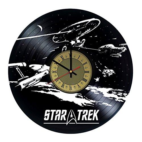 Star Trek Starfleet Starships Vinyl Wall Clock Star Trek Unique Gifts Living Room Home Decor