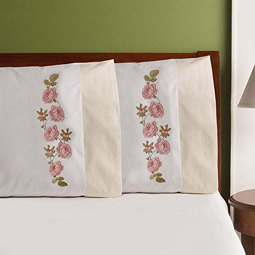 Bucilla 47824 Stamped Embroidery Pillowcase Kit, 20