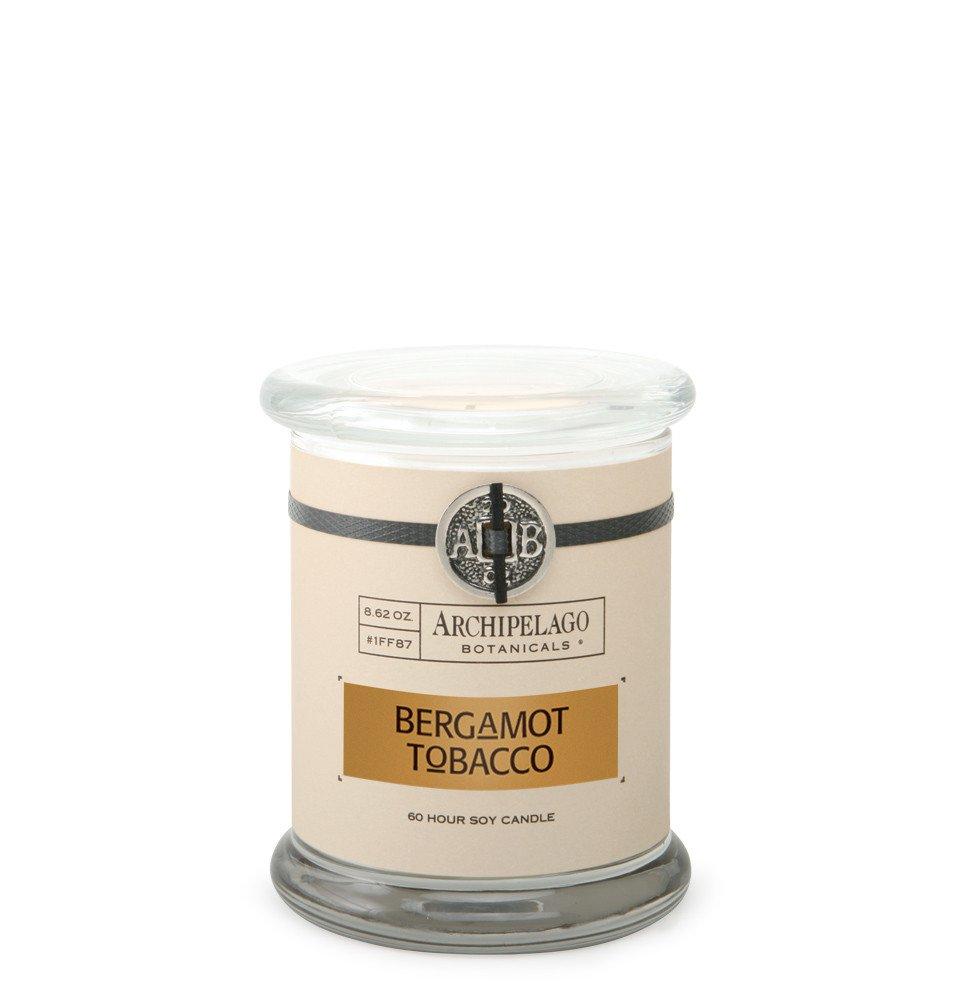 Archipelago Bergamot Tobacco Glass Jar Candle