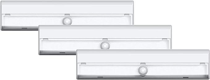 7 LED Cabinet Stair Lamp Battery Powered Wireless PIR U4N5 Light Sensor M S M8G4