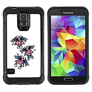 Hybrid Anti-Shock Defend Case for Samsung Galaxy S5 / Cool Triangles