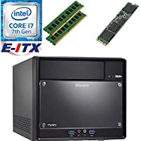 Shuttle SH110R4 Intel Core i7-7700 (Kaby Lake) XPC Cube System , 32GB Dual Channel DDR4, 120GB M.2 SSD, DVD RW, WiFi, Bluetooth, Window 10 Pro Installed & Configured by E-ITX