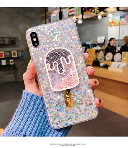 - iPhone X/iPhone Xs/iPhone Xs Max Summer Cell Phone Case Epoxy Transparent Ice Cream iPhone 7 Plus/8 Plus All Inclusive Anti-Trip Summer Ice Cream Mobile Shell Epoxy Transparent